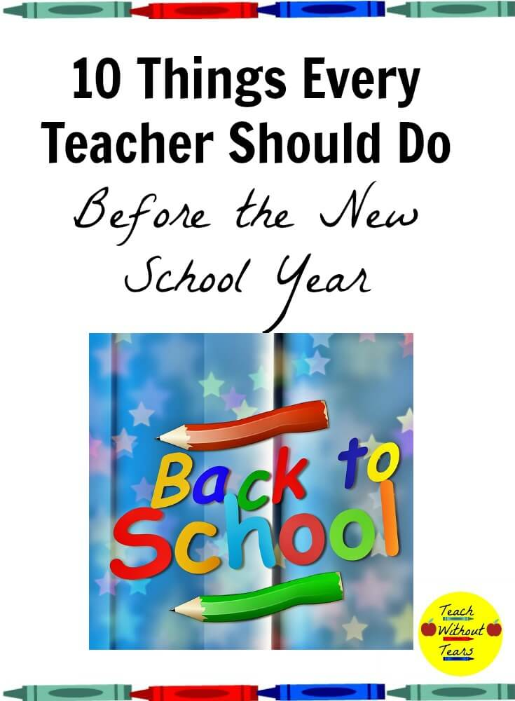 A new school year is very stressful. Do these 10 things to make back to school time a little less stressful.