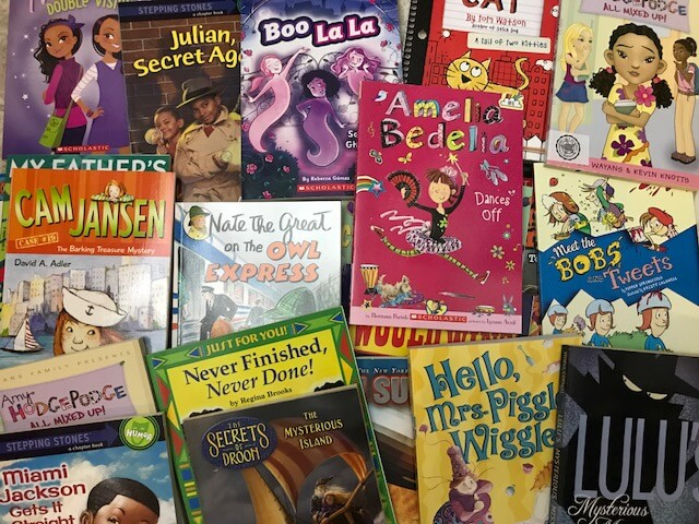 Teachers accumulate lots of books for their classroom library.