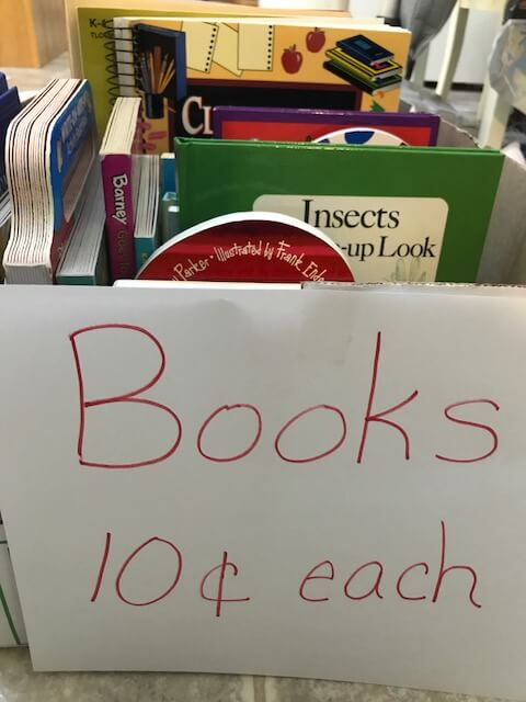 Yard sales are a great way to find cheap and free books for your classroom.