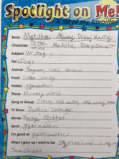 all about me writing, one of the first week of school activities