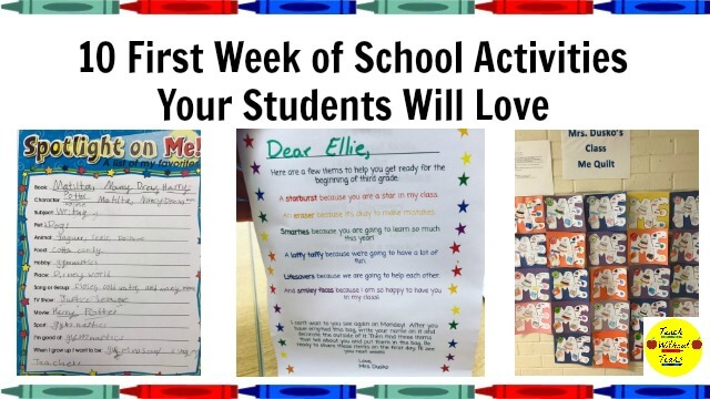 10 First Week of School Activities Your Students Will Love