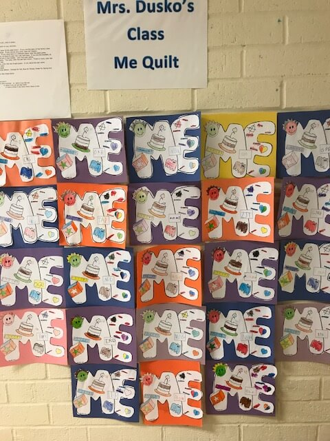 the me quilt, one of the first week of school activities