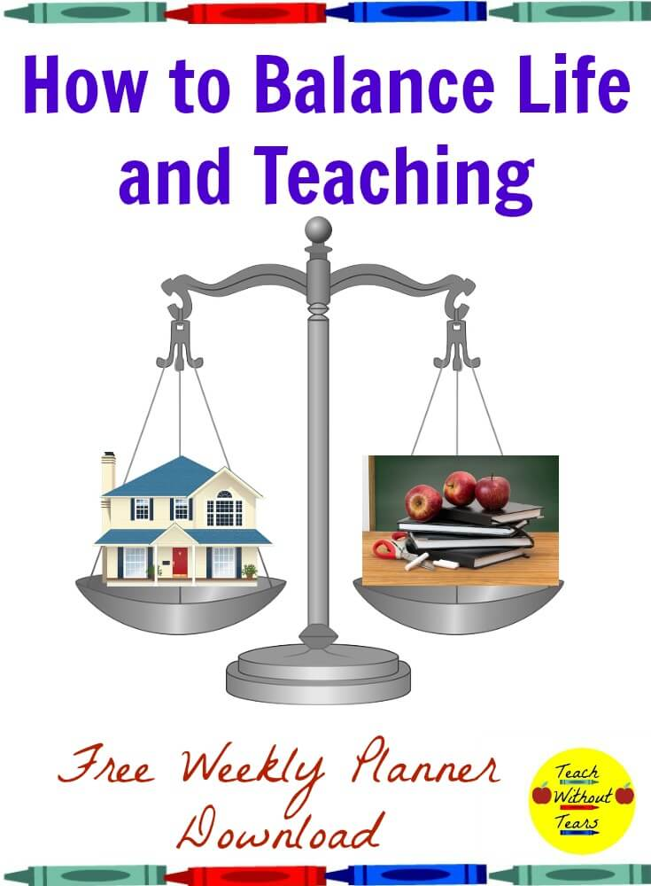 Teaching can be a stressful job. Here are some tips for how to balance life and teaching.