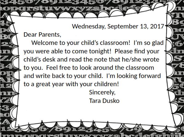 Meet the Teacher Night parent slideshow