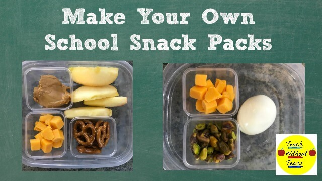 Lunch time is limited for teachers. Find out how to make your own school snack packs.