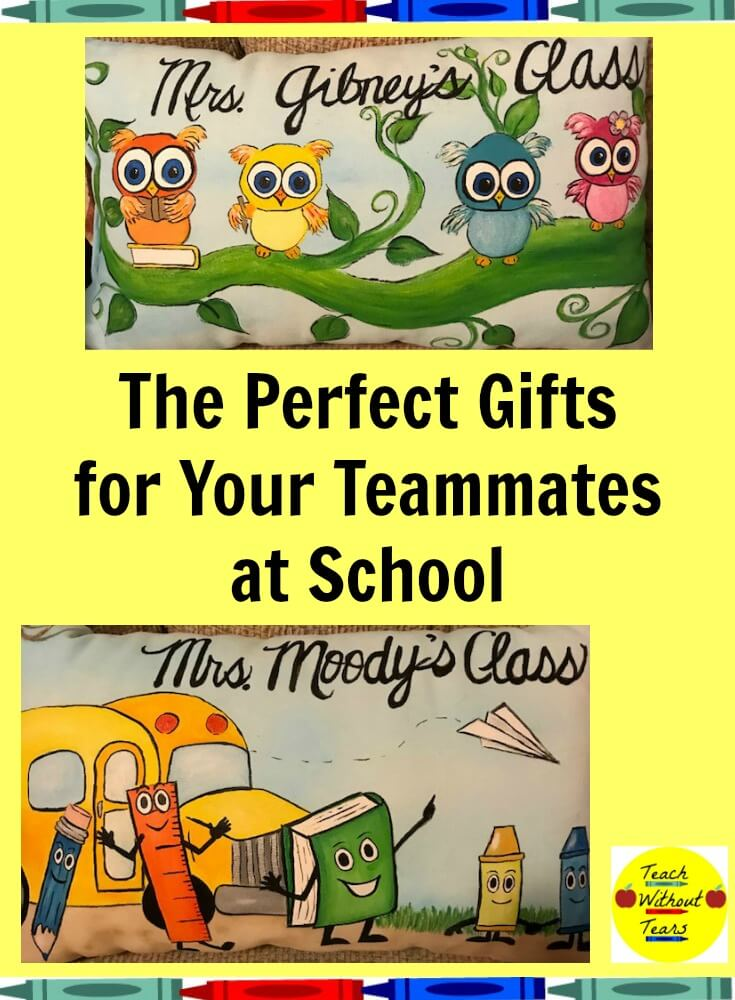 Are you looking for the perfect gifts for your teammates at school? These pillows from the Make Lemonade Shop are just what you need!