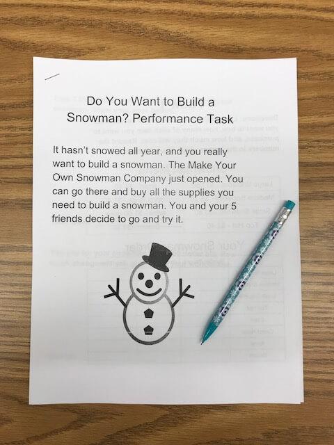performance task for problem solving