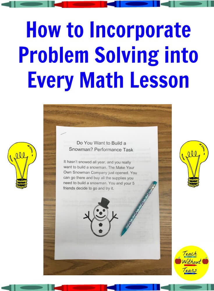How to Incorporate Problem Solving into Every Math Lesson - Teach ...