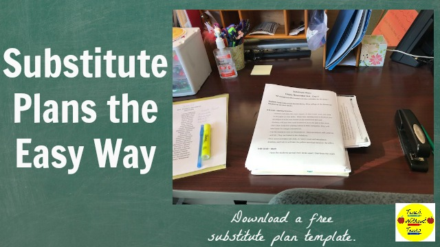 Writing substitute plans is one of the worst parts of teaching. Use these tips to make it easier, and download a free substitute plan template.