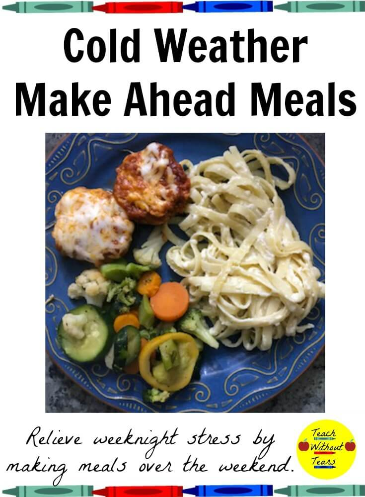 These cold weather make ahead meals are a great way to prepare for the busy workweek ahead. Stock your refrigerator and give yourself time to relax in the evenings.