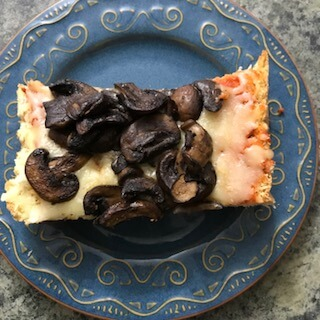 French bread pizza, one of the cold weather make ahead meals