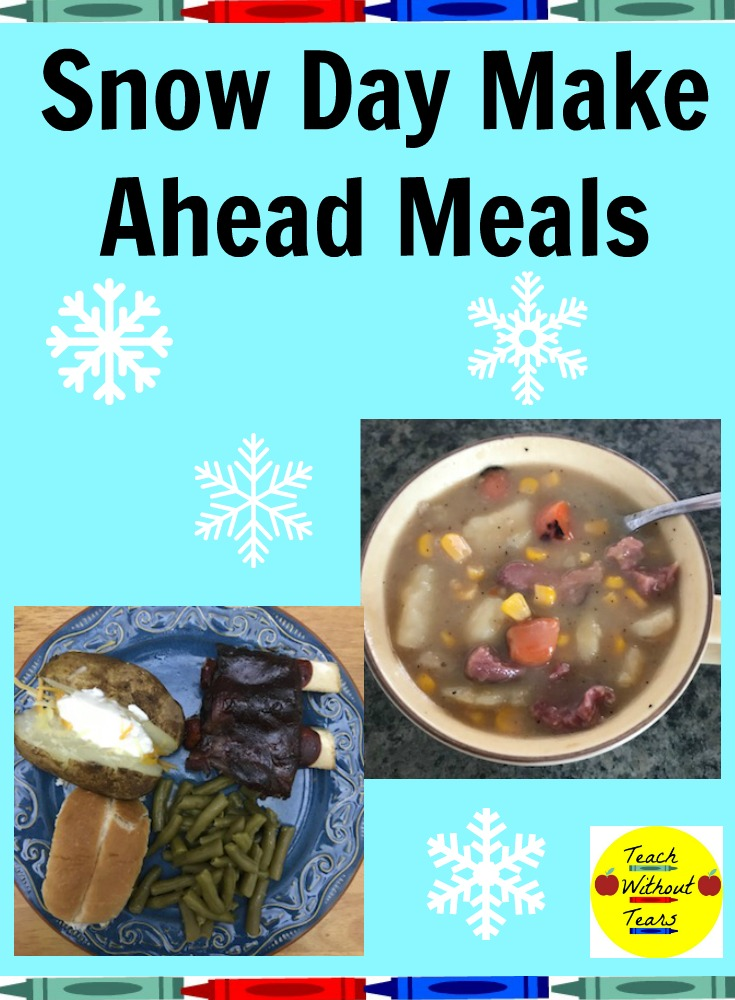 Stay warm with these snow day make ahead meals!