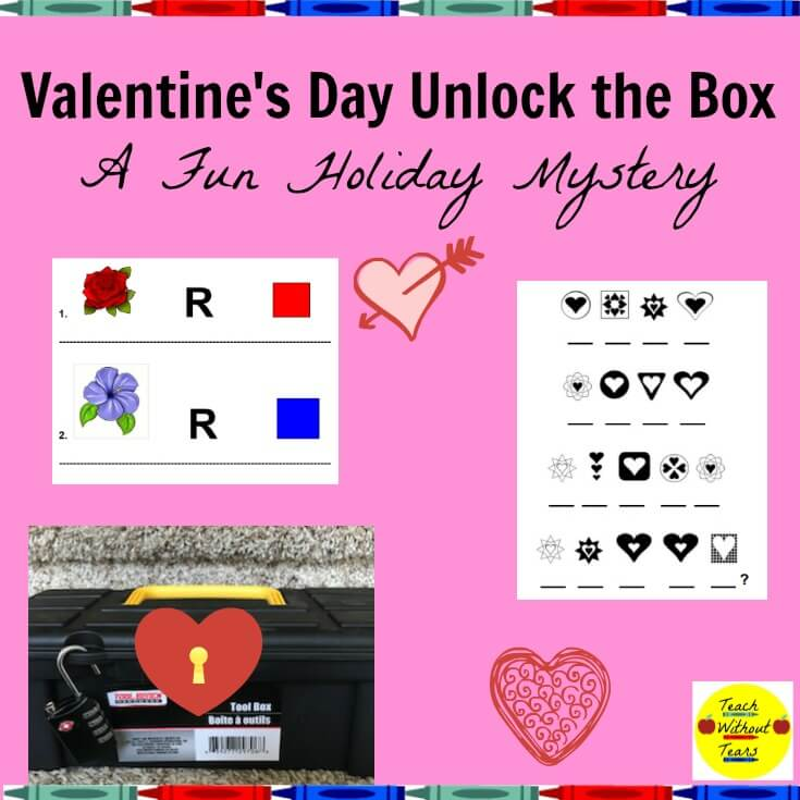 Unlock the Box Mystery, one of the fun Valentine's Day activities