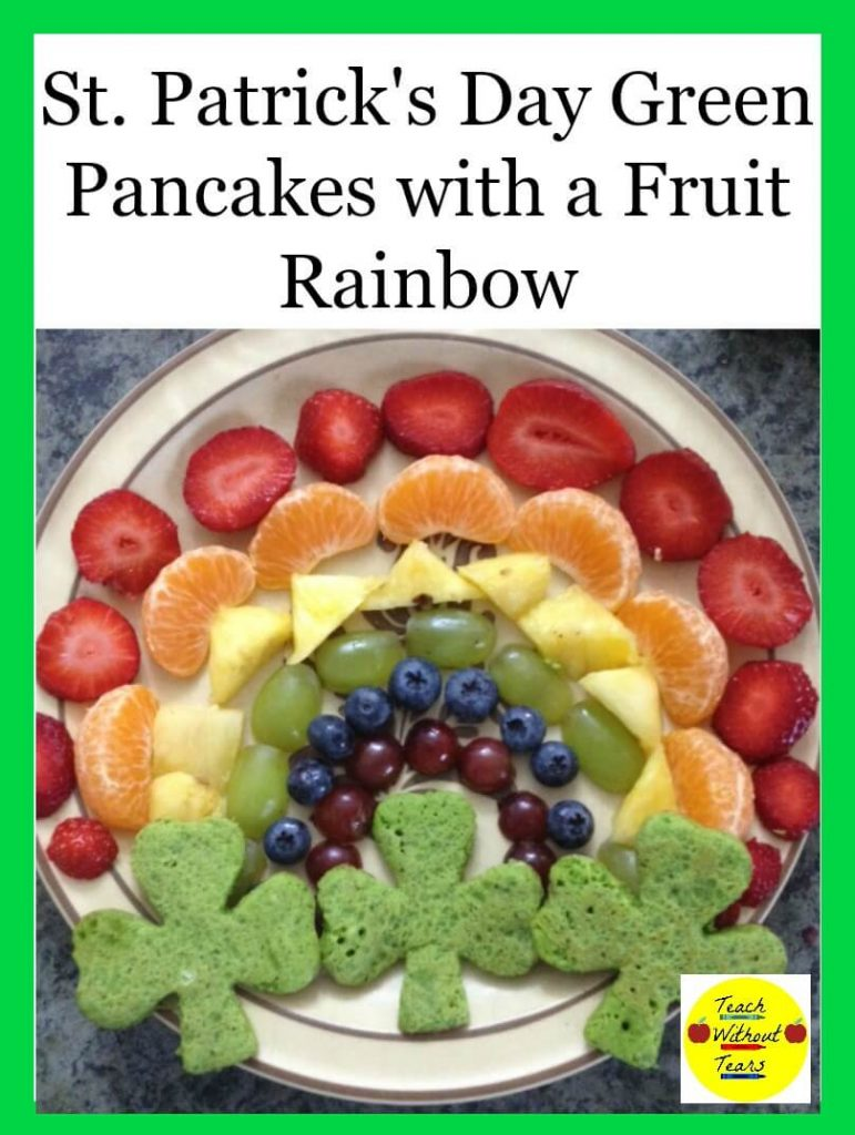 Try these St. Patrick's Day Pancakes with a Fruit Rainbow for a fun holiday breakfast!