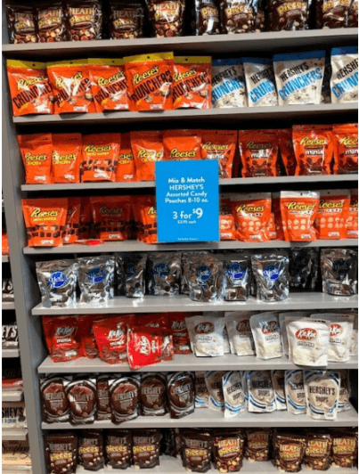 aisles of chocolate at Hershey's Chocolate World