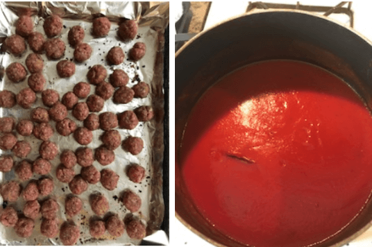 baked meatballs with tomato sauce freezer meals