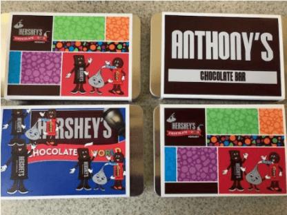 make your own chocolate bars at Hershey's Chocolate World