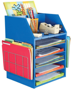 desktop organizer for classroom organization