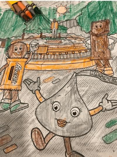 coloring sheet at the Hershey Lodge