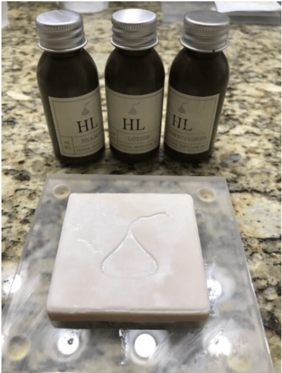 chocolate soap and lotion from the Hotel Hershey