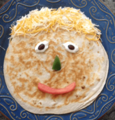 Chicken and cheese quesadilla for Cooking and Learning in the Kitchen