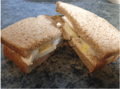 egg sandwich to use leftover hard boiled eggs