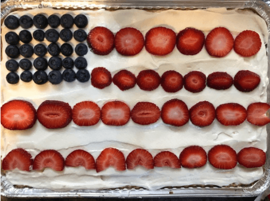 flag cake for Cooking and Learning in the Kitchen