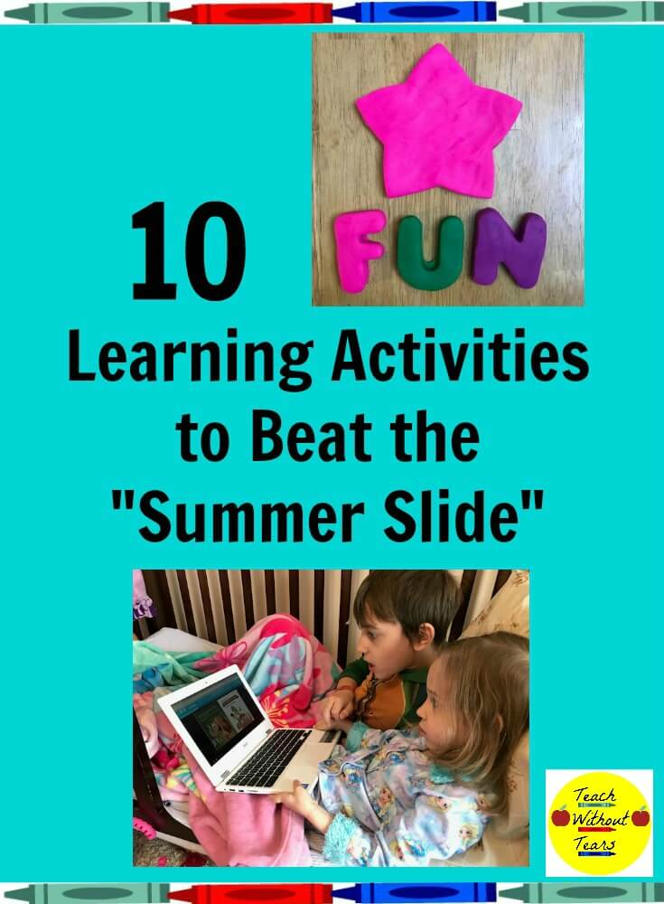 "The ""summer slide"" is a real thing. Students work hard all school year. Then, summer comes and they forget what they've learned. Use these fun learning activities to beat the ""summer slide""."