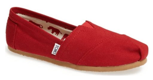 TOMS, comfortable shoes for teachers