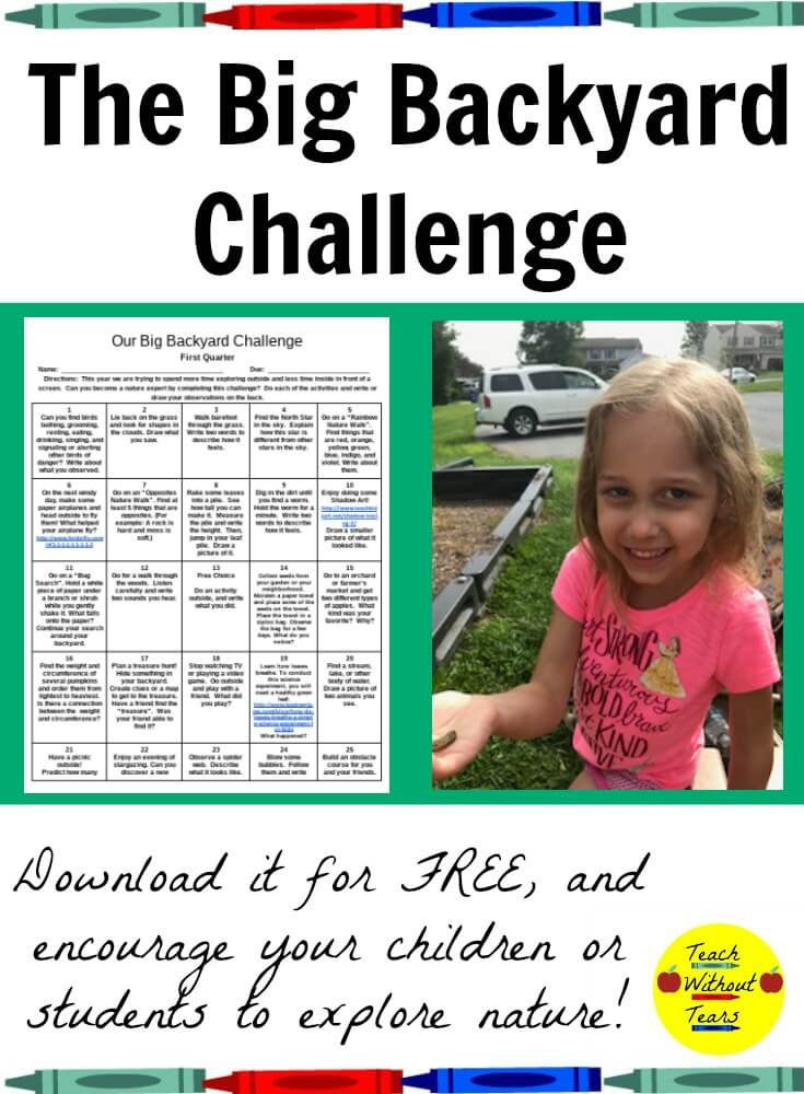 Are you looking for a way to get your kids to put away the video games? Try The Big Backyard Challenge to motivate them to explore nature.