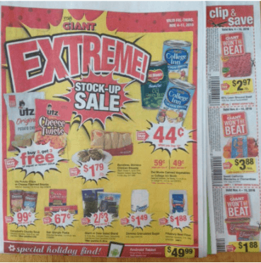 not using the weekly circular, one of the grocery store mistakes