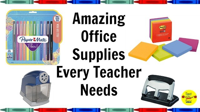 Office supplies can easily be broken and destroyed by students. These amazing office supplies can survive a classroom of students and will last years.