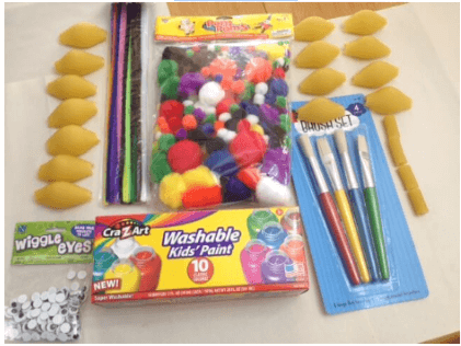 materials for shell pasta crafts