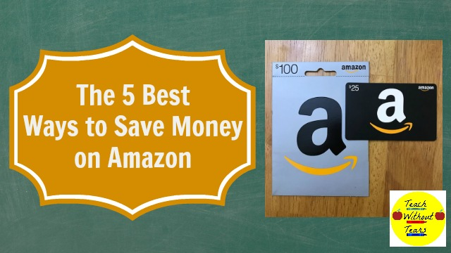 Amazon is the perfect place to stock up on things for the classroom and for home. Use these 5 tips to save money on Amazon.
