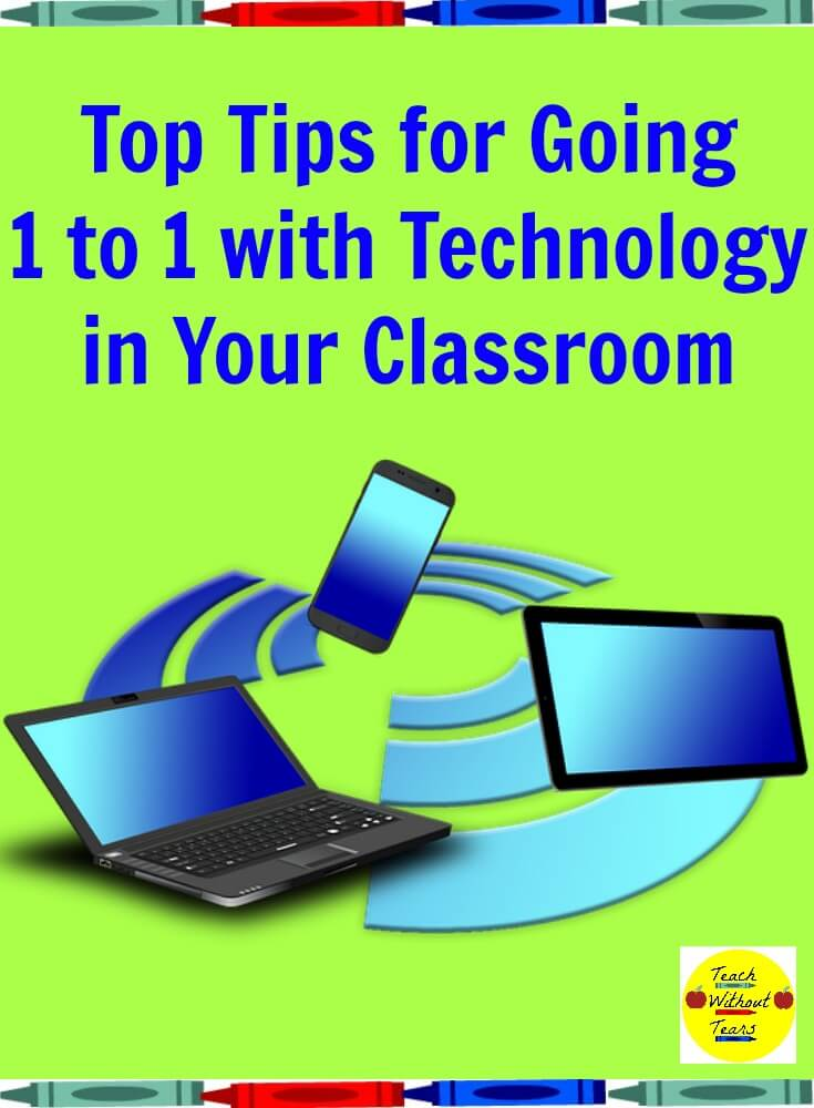 Is your school 1 to 1 with technology? Here are some tips for staying organized and managing devices in your classroom.