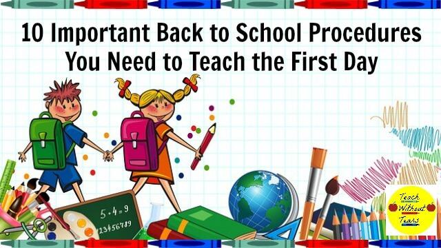 10 Important Back to School Procedures