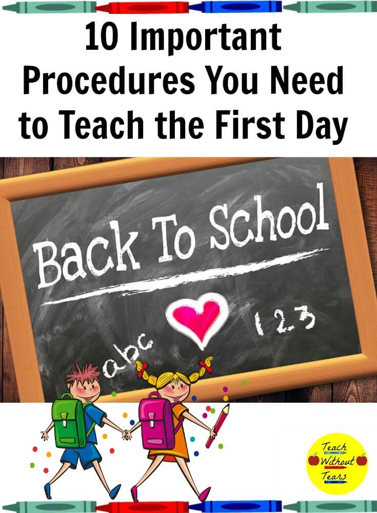 Establishing back to school procedures is so important at the beginning of the year. Don't forget any of these 10 important ones.