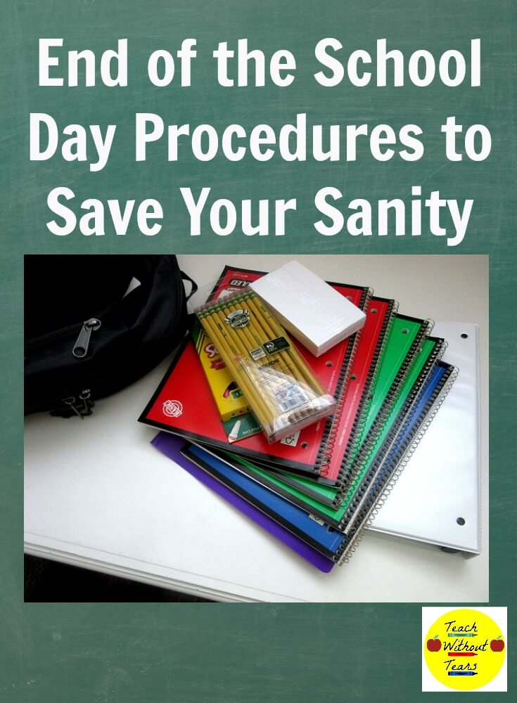 The end of the day in your classroom can be crazy. Use these end of the school day procedures for save your sanity.