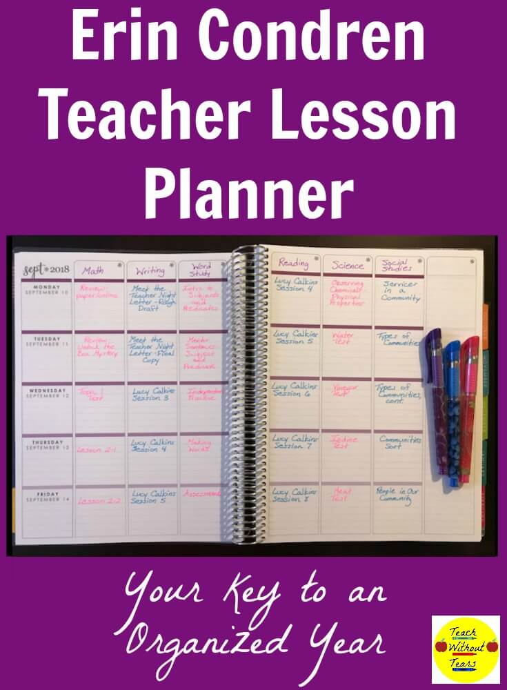 The Erin Condren Teachers Lesson Planner is the best way to stay organized as a teacher.
