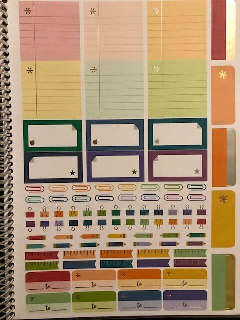 Erin Condren Teacher Lesson Planner stickers