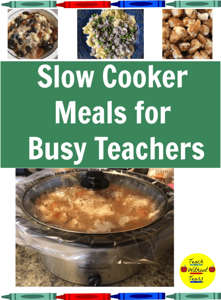 When you get home from a long day of teaching, cooking dinner is the last thing you want to do. Put your slow cooker to work with these delicious slow cooker meals for busy teachers.