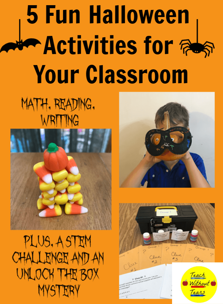 Are you looking for a fun way to celebrate Halloween? Use these 5 fun Halloween activities for your classroom. You can stick to your regular schedule while still having lots of holiday fun.