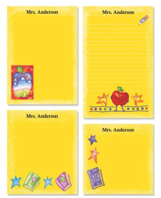 personalized notepads, one of the great gifts for your teacher friends