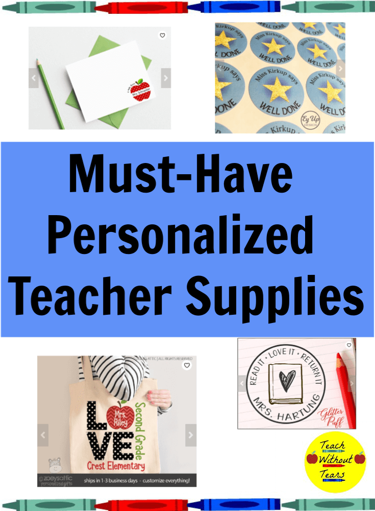Looking for a gift for a special teacher or a new treat for your own classroom? These personalized teacher supplies are great additions to any classroom.