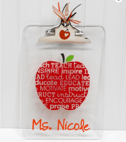 personalized clipboard, personalized teacher supplies