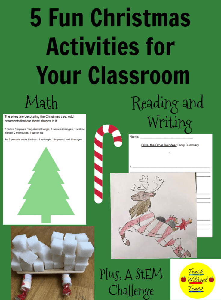 Are you looking for Christmas activities for your classroom? Here are 5 fun ways to bring holiday spirit to your classroom while still teaching the standards.