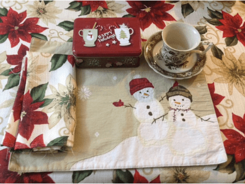 holiday tea party table