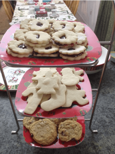 holiday tea party cookies
