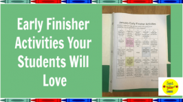 These early finisher activities will engage your students who finish their work early. They will love choosing an activity, and there won't be any wasted time because they are practicing important, math, reading, and writing skills.