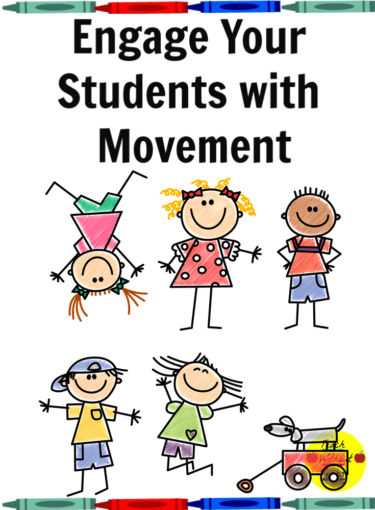Are your students losing focus or getting squirmy? Check out this post for some ideas to engage your students with movement.